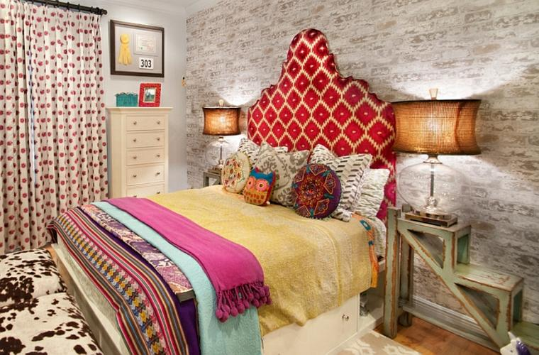 bonita habitación estilo Boho Chic