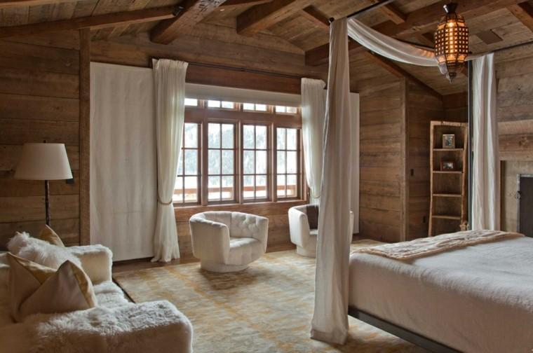 Maderas rusticas para decorar interiores 38 ideas - Decoracion habitacion rustica ...