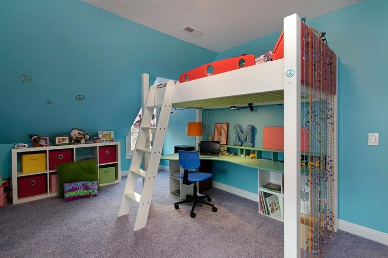 bonita habitacion infantil color celeste