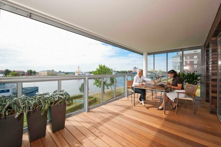 bonita terraza moderna comedor