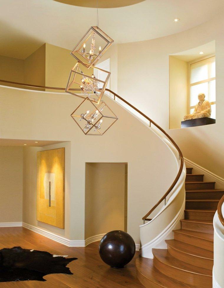 Escaleras de interior modernas 50 dise os que marcan for Escaleras metalicas para interiores de casas