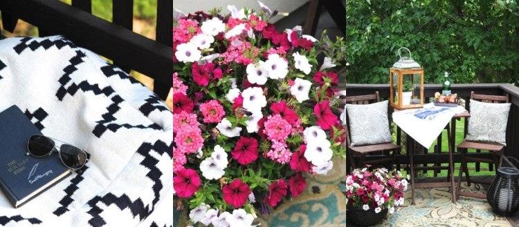 bonitas flores deco colores terraza