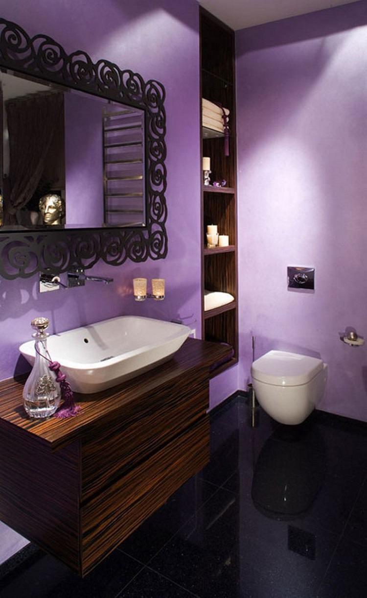 aseo muebles madera violeta
