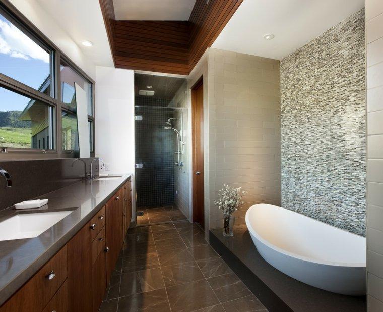 bonito cuarto baño muebles madera