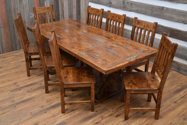 bonito conjunto muebles madera natural