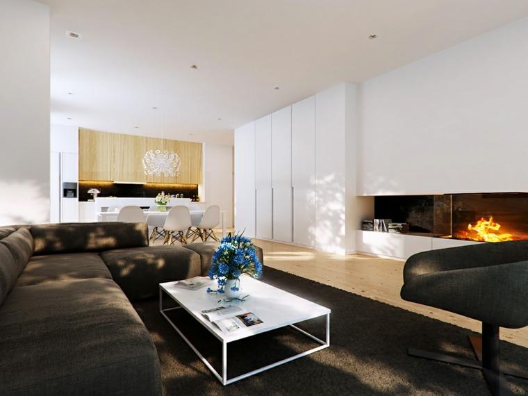 bonito diseño salon moderno