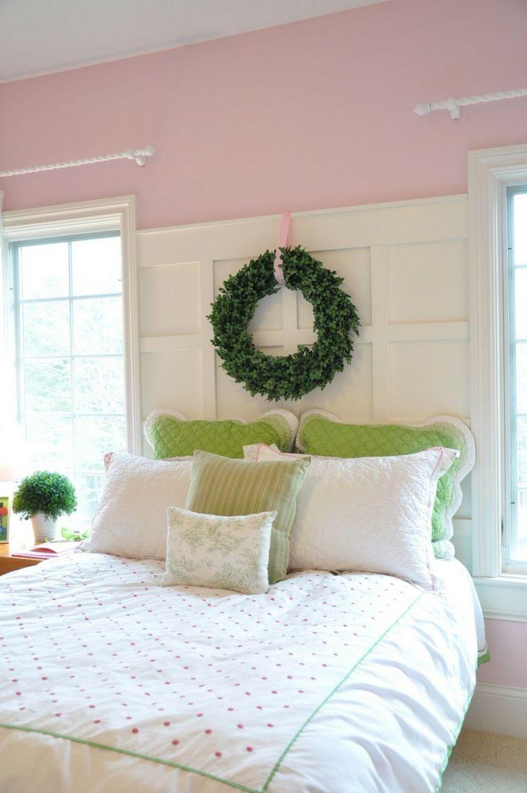 bonito diseño cabecero obra cama