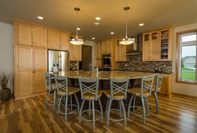 bonito diseño cocina obra madera