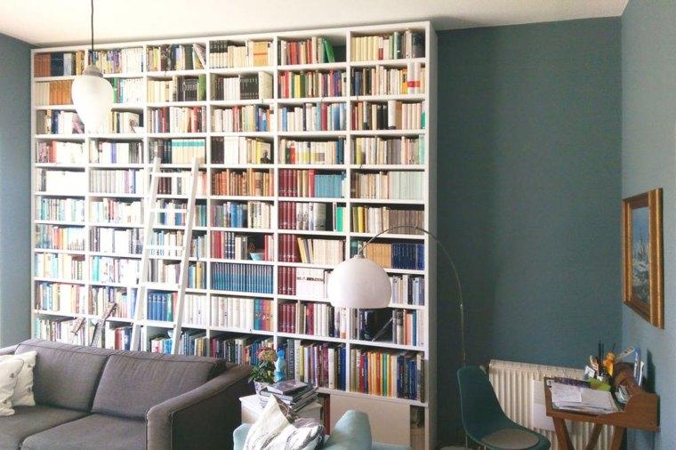 bonito diseño estantes sala libros