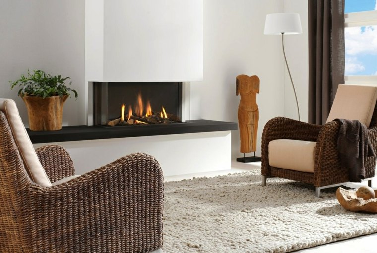 bonito diseño interior chimenea