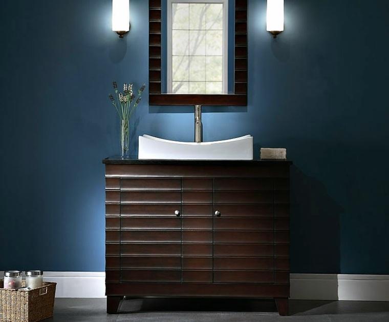 bonito mueble lavabo madera