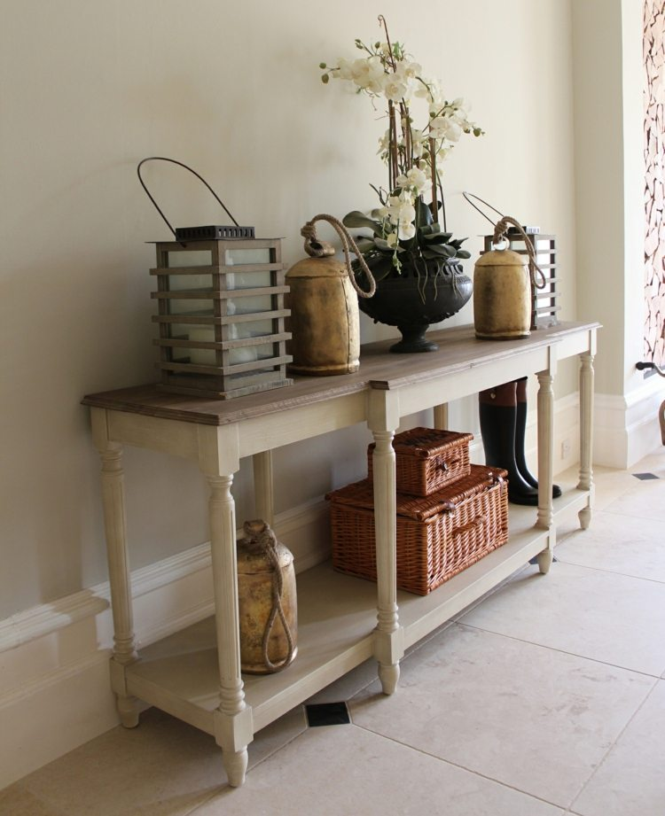 Recibidores con encanto 38 ideas para decorar for Mueble recibidor vintage