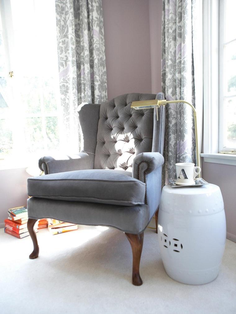 bonito diseño sillón gris