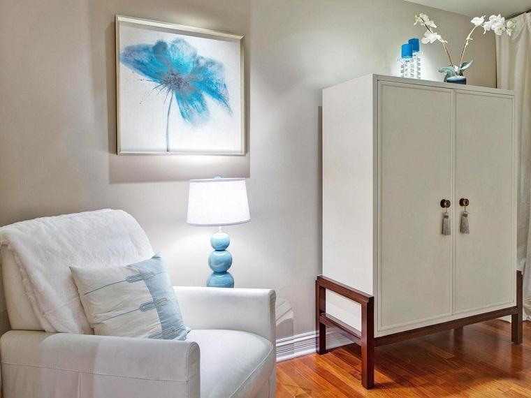 bonito diseño sillón blanco