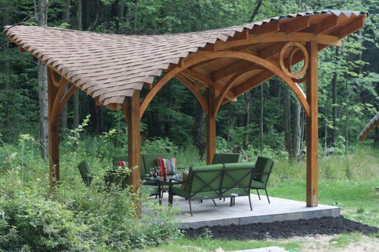 cenadores de madera para aislar y dar sombra - 50 diseños. -