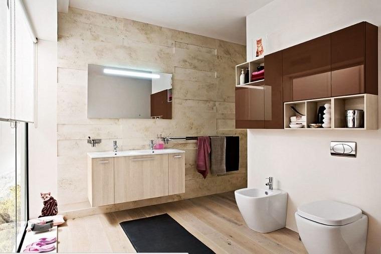 Baños Modernos Bonitos:baños modernos con elementos de madera
