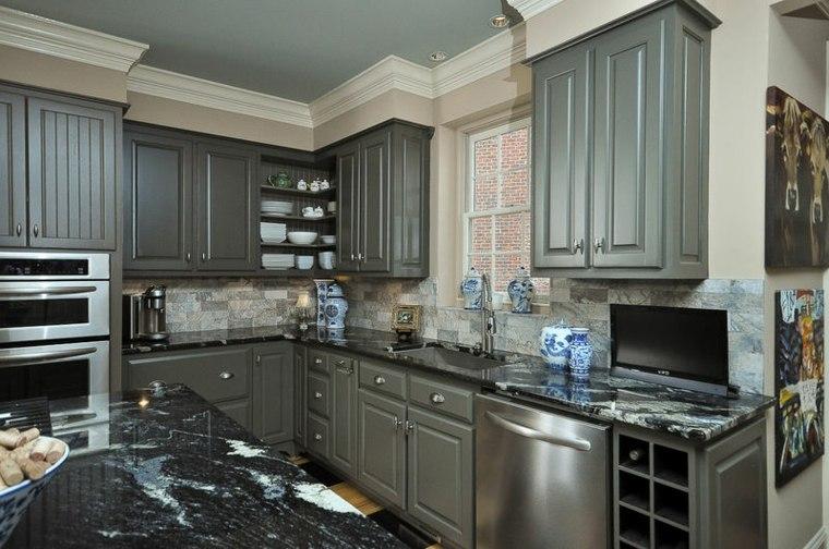 Muebles de cocina de color gris