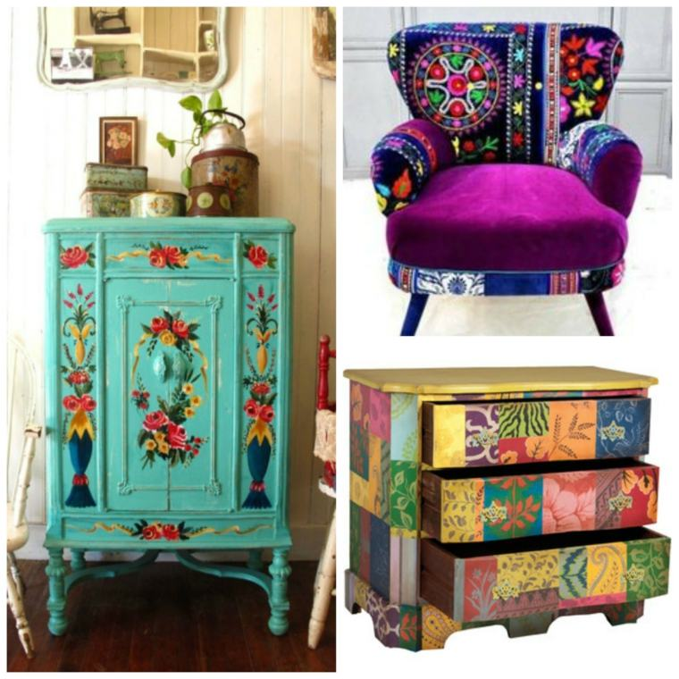 Decoracion de interiores de estilo boho chic 38 dise os for Muebles hippies