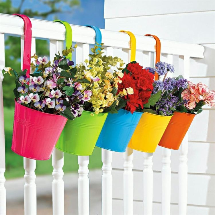 bonitas macetas flores exterior