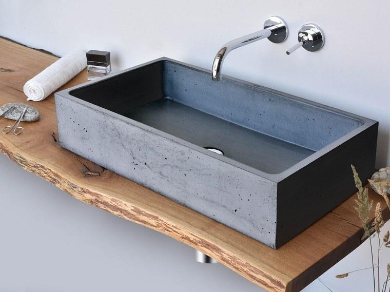 Lavabos para ba o de concreto - Muebles de lavabo rusticos ...