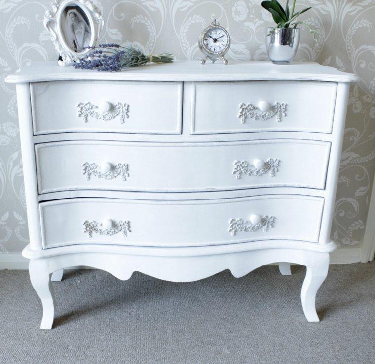 cómoda vintage color blanco