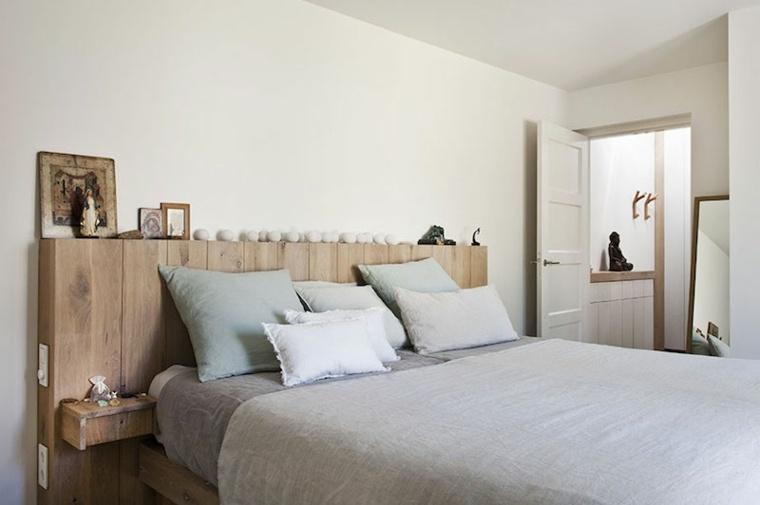 cabecero cama maderas rusticas natuiral
