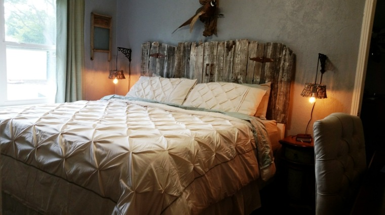 Cabeceros originales 38 dise os de diferentes estilos - Cabecero madera reciclada ...
