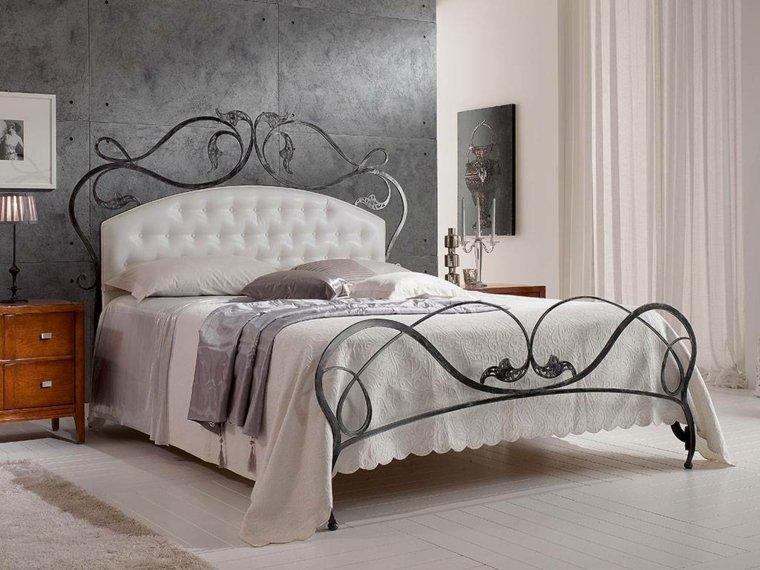 cabeceros cama acero negro ideas