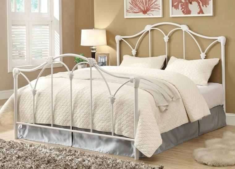 cabeceros originales dormitorio cama acero blanco bonito ideas
