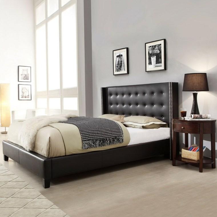 Cabeceros originales 50 tonos de estilos for Dormitorio matrimonio negro