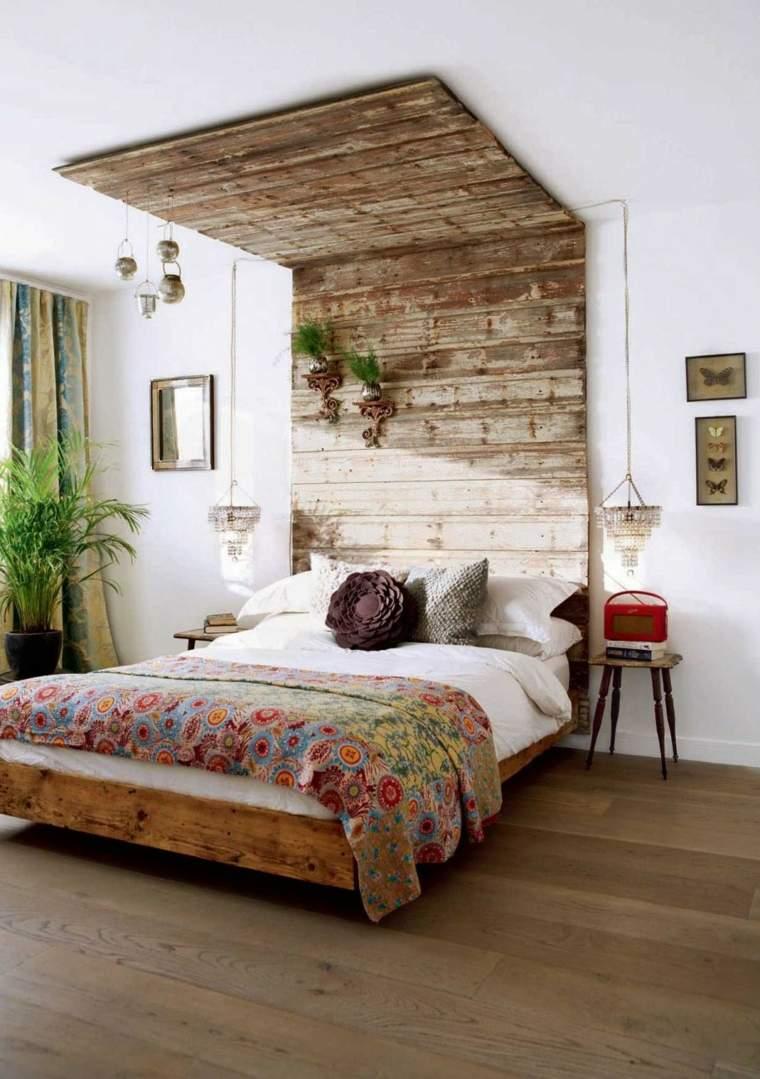 cabecero original dormitorio cama diseno rustico ideas