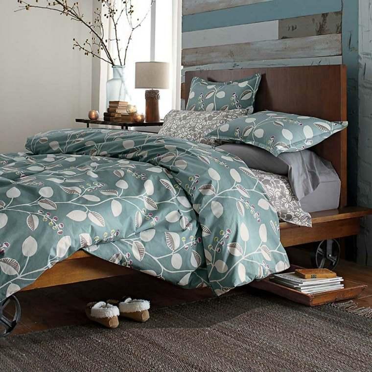 cabecero original dormitorio cama madera organica ideas