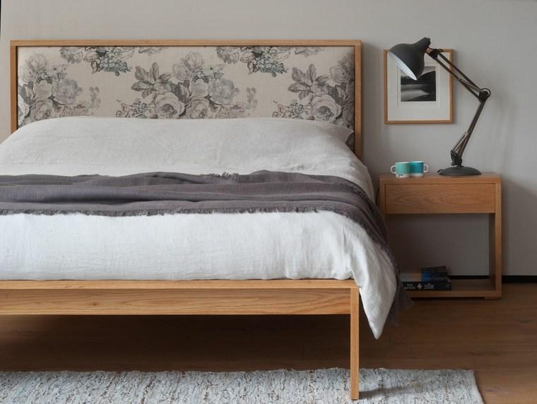 cabecero original dormitorio cama madera tapizado ideas
