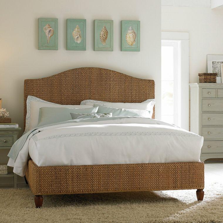 cabecero original dormitorio cama mimbre ideas