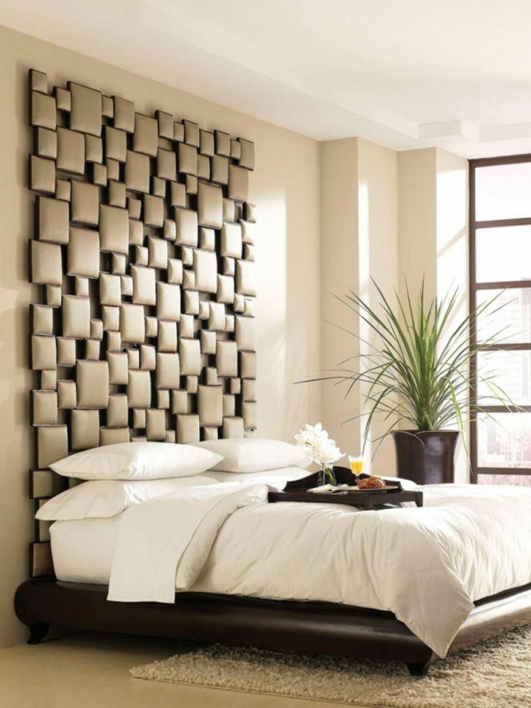cabecero original dormitorio cama opciones modernas ideas