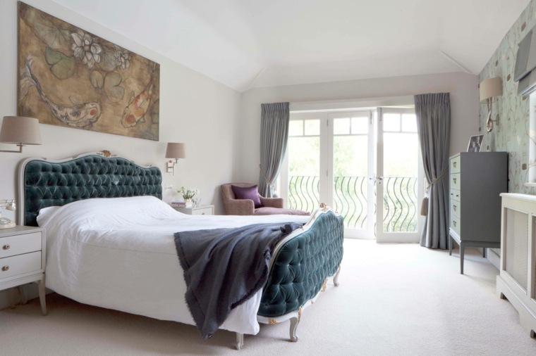 cabecero original dormitorio cama velvet ideas