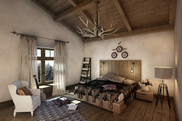 cabero madera dormitorio rustico opciones ideas