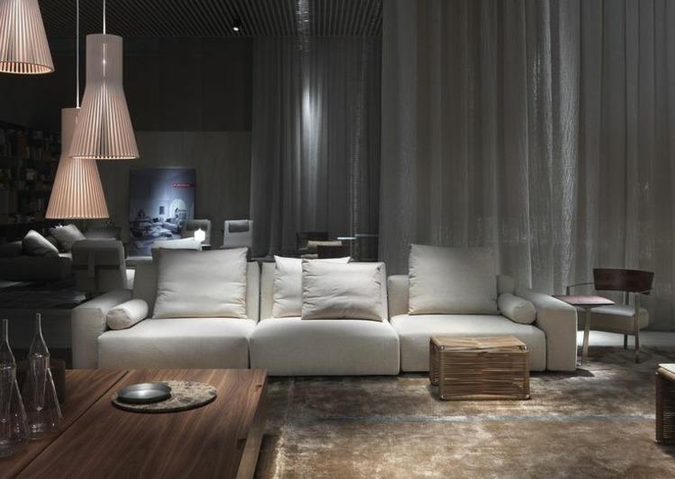 calido elegantes salones diseños mueble calido