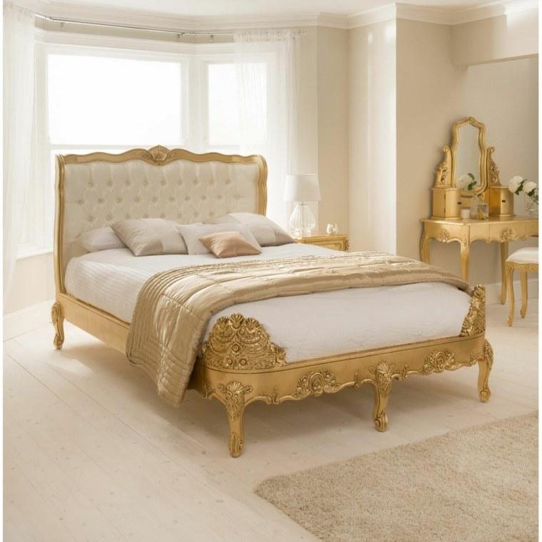 camas doradas diseño vintage retro