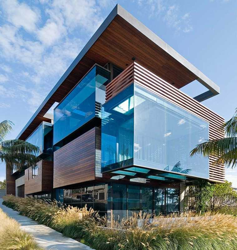 Fachadas de casas modernas treinta y ocho dise os - Fachadas de cristal ...