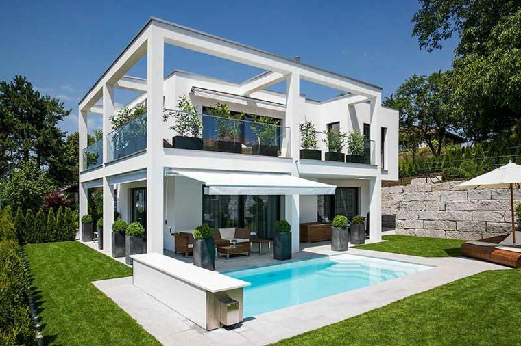 bauhaus cincuenta dise os de interiores y fachadas On jardin interior moderno