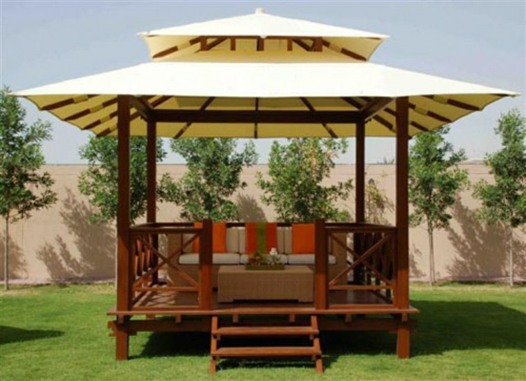 gazebo toldo diseño tropical