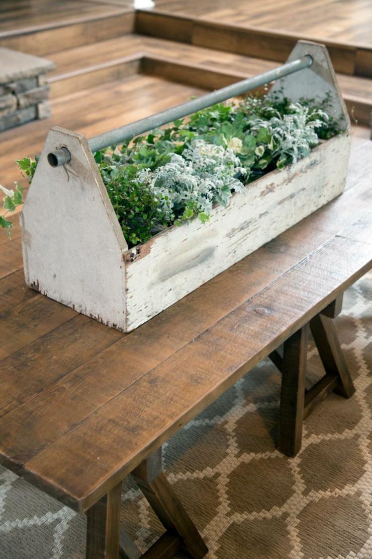 centro de mesa de salas creatividad ingeniosos maderas diy