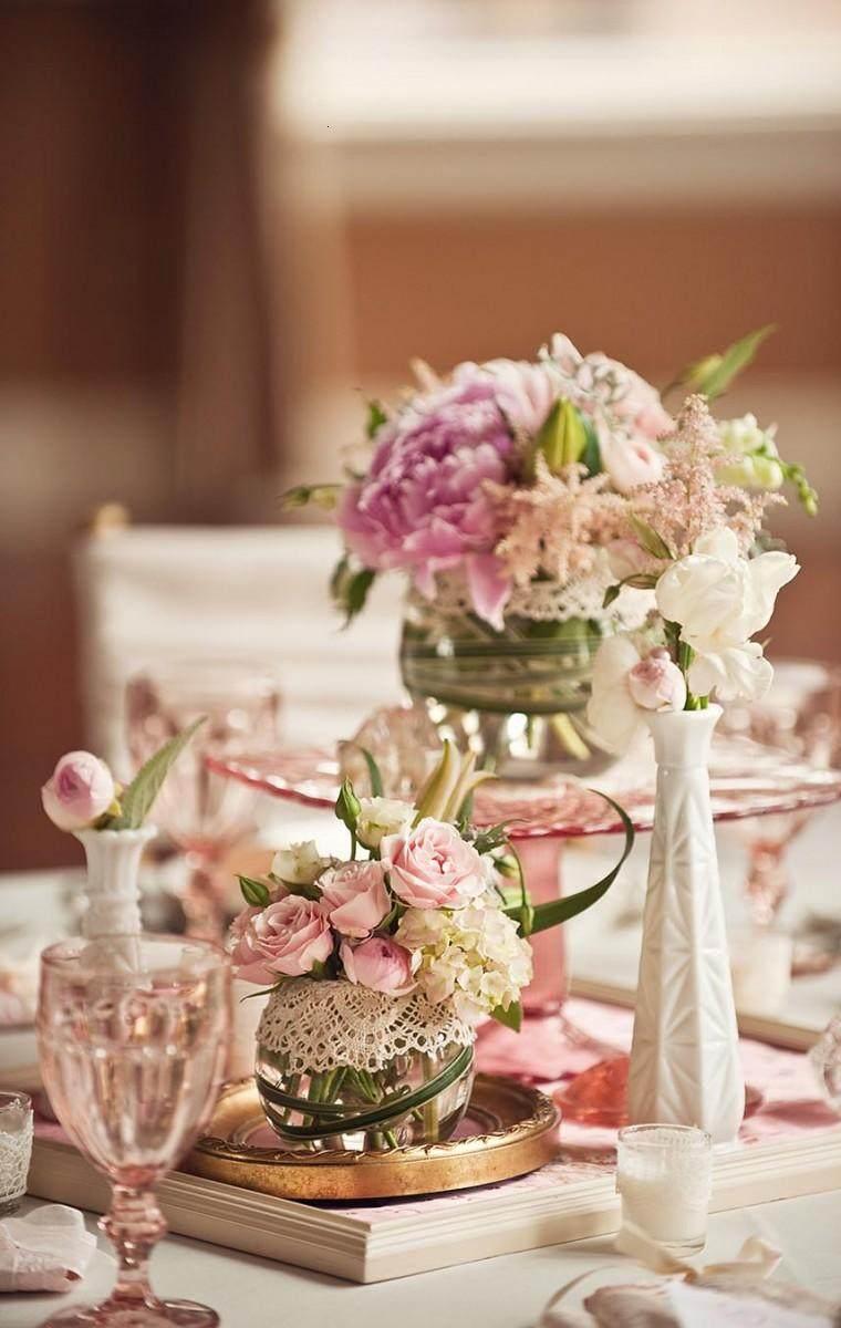 Decoracion boda vintage ambientes rom nticos con clase - Decoracion de mesas para fiestas ...