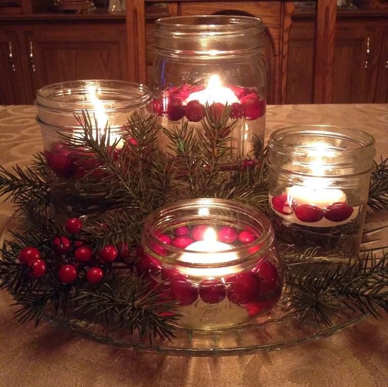 Como hacer velas flotantes cincuenta ideas sencillas for Centro mesa navidad