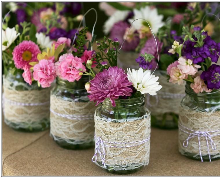 tarros vidrio centros flores
