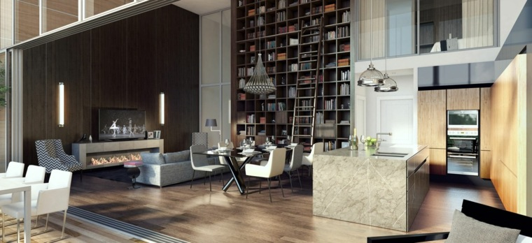 chimenea preciosa moderna loft ideas
