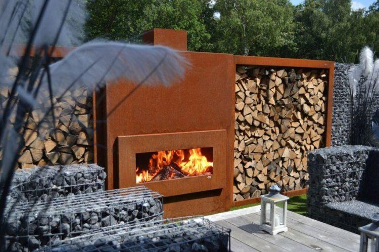 chimeneas maderas troncos variables troncos