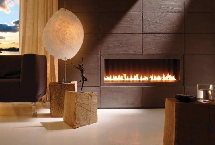 chimeneas de obra diseño moderno