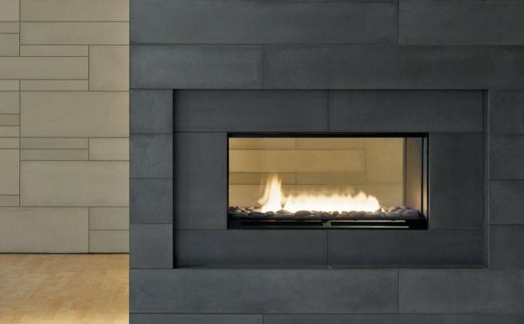 chimenea obra separador ambientes negro